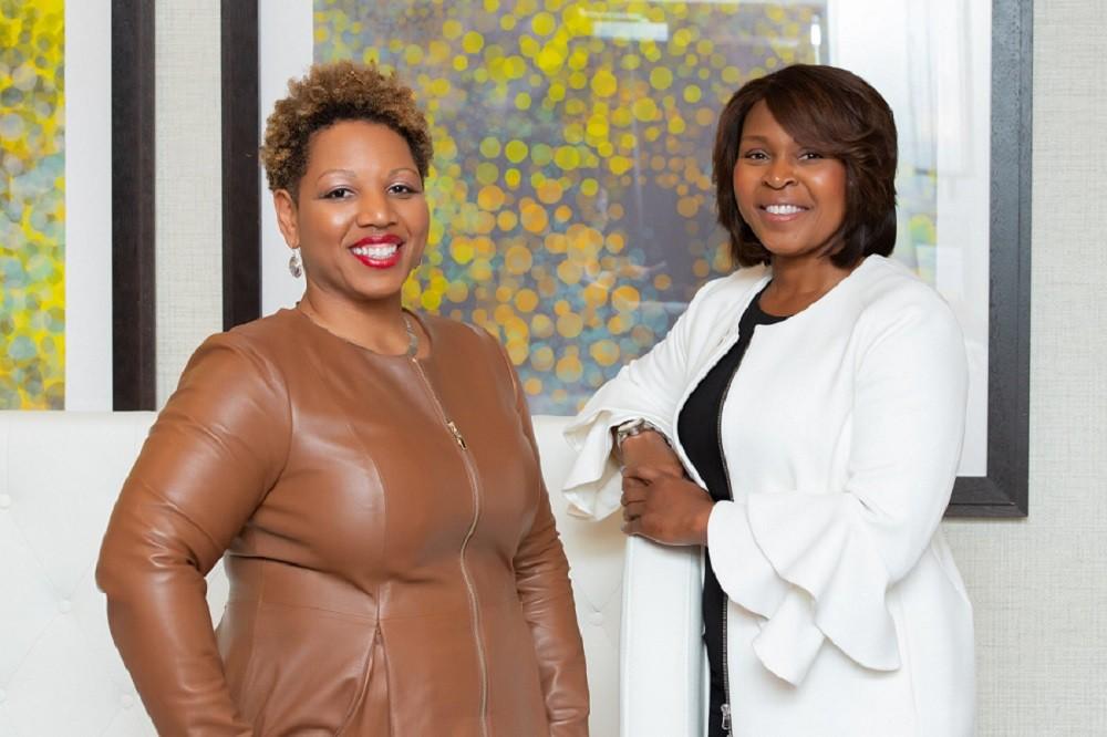 Dr. Charlotte Jones-Burton and Patricia Cornet